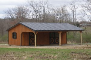 Horse Shed with front overhang
