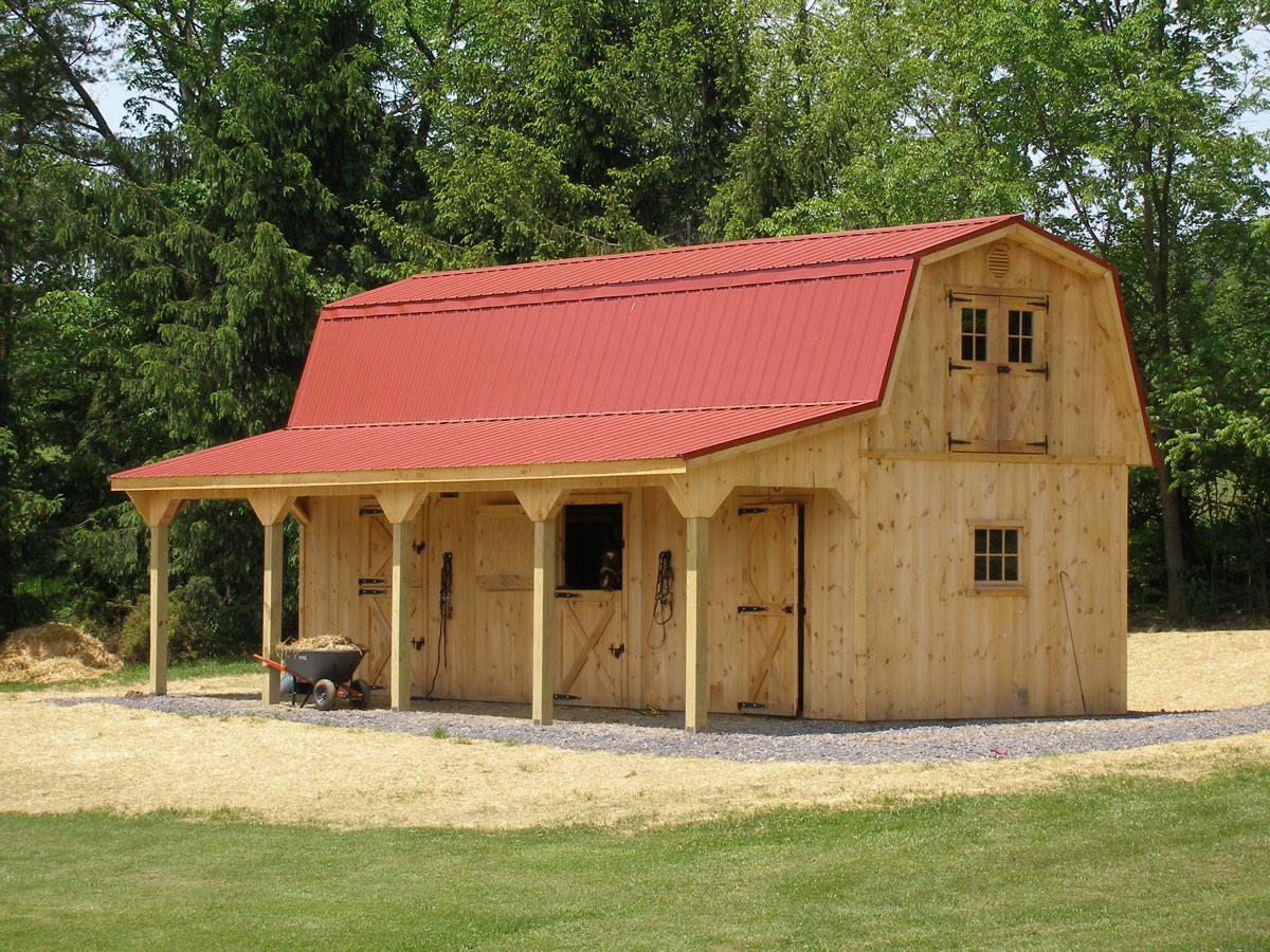Two Story Horse Barn