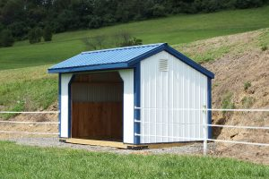 Run-In Horse Shed