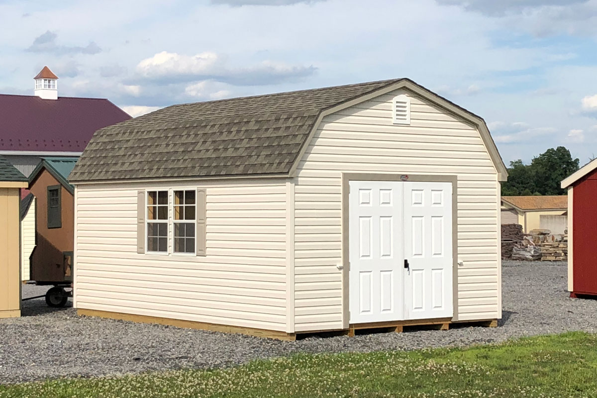 vinyl covered Dutch shed
