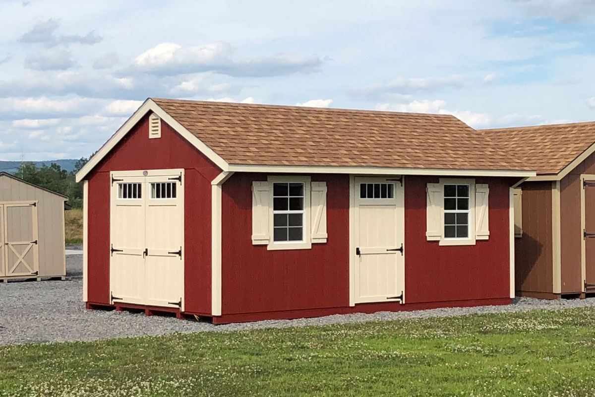 Quaker style shed for sale from Susquehanna Outdoors