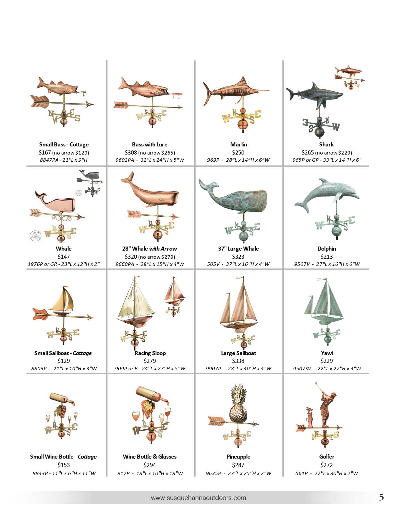 Susquehanna Outdoors Weather vanes page 3