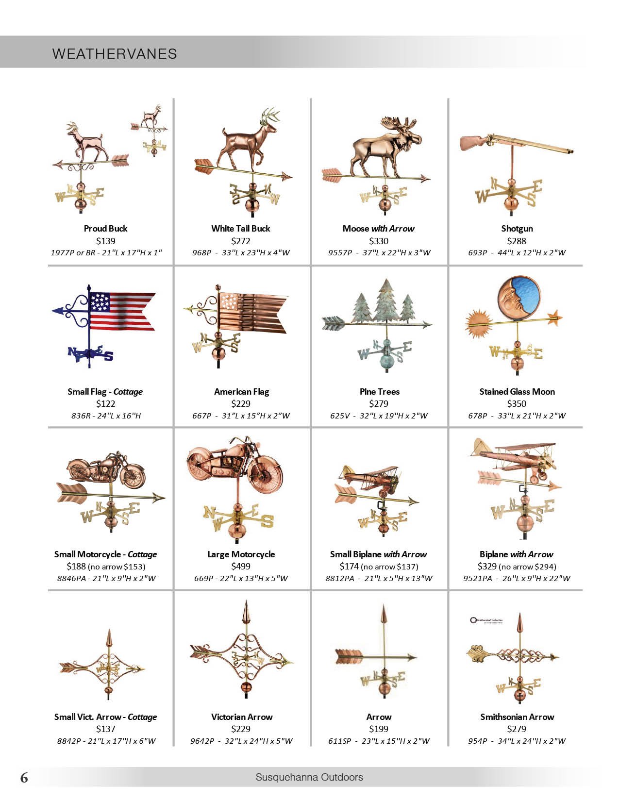 Susquehanna Outdoors Weather vanes page 6