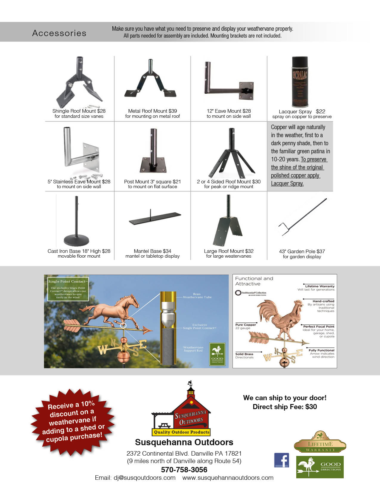 Susquehanna Outdoors Weather vanes